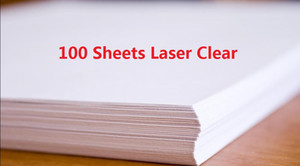 DHL Fast Delivery 100 Sheets A4 Laser Printer Water Slide Decal Paper Sheets Transparent Clear