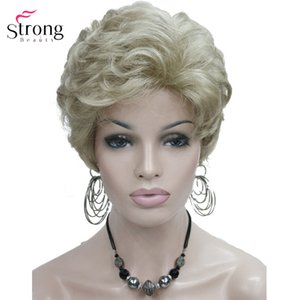 Cheap Synthetic None-Lace Wigs StrongBeauty Short Fluffy Natural Wave Blonde Full Synthetic Wigs Women's Hair Wig 6 colors for choose