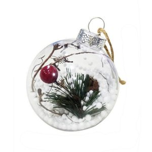 DUUTI Natale Tress Appendiabiti palla trasparente regalo di decorazioni plastiche box presenti 3 tipi Bambini portatili favori feste