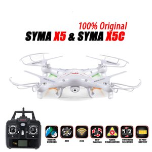 100% Original SYMA x5C (versão de actualização) RC Drone 6-Axis helicóptero de controle remoto Quadrotor Com 2MP câmera HD ou X5 Sem Camera