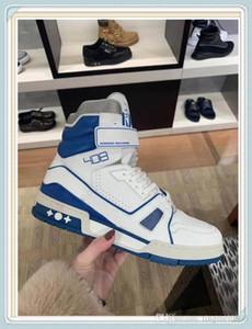 louis vuitton LV Повседневная обувь для мужчин Моды Цветы Технических Canvas High-Top Sneaker Zapatos Mujer с оригинальной коробкой Мужчины Марка обувью летом