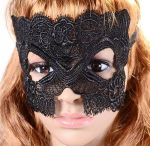 Máscara de encaje de Halloween caliente Mascarada Fiesta veneciana Media cara encantadora Lily Mujer Señora Máscara de encaje sexy para Navidad Disco Club Decoración