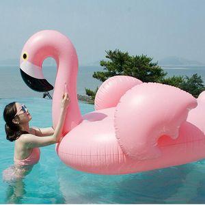 Оптовые сгущает 142 * 137 * 96cm Giant надувного Flamingo бассейна поплавки Трубного Плот Взрослых партий Бассейн Бассейн Flamingo поплавки Плот DH1069 Т03