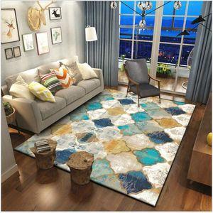 América cosecha geometría marroquí estilo étnico puerta del dormitorio de la sala dormitorio alfombra de la estera y alfombras para la sala de estar