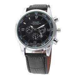 Fecha automática Correa de cuero Reloj de cuarzo Hombre Caja de acero inoxidable Relojes Relojes Hombre Horloge Orologio Uomo Montre Homme RELOJ SPROT