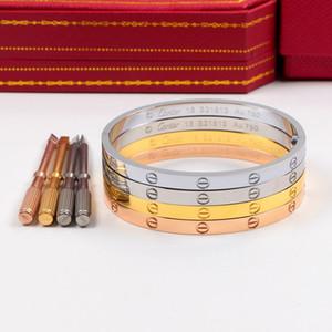 4 milímetros Atacado carter amor estreito versão de seis geração entreaberta Bracelet 18K anel pulseira eterna Rose Gold Titanium Aço