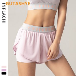 GUTASHYE Ms shorts summertime fitness pants quick-drying running hot pants breathable leisure outdoor elastic loose