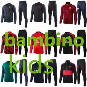 AC 2019 2020 arası Napoli çocuklar eğitim takım elbise Lautaro Lukaku İtalya Roma Futbol Eşofman 19 20 Piatek Verratti futbol çocuk ceket kiti