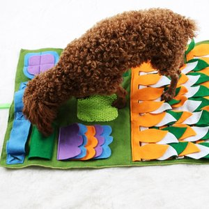 2019 New Pet Sniffing Mat Washable Dog Cat Smell Training Pad Consume Energy Puzzle Pet Toys Puppy Dog Release Training Blanket