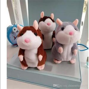 Parler Hamster en peluche cadeau de Noël mignon 15cm Anime Doll Jouets Kawaii Speak Parler Enregistrer son hamster Cadeaux enfants