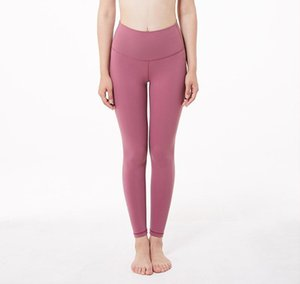 Lu 2020 Hot Fitness Femme Leggings pleine longueur couleurs solides en cours Pantalon Yoga confortable et formfitting Pantalon d'entraînement
