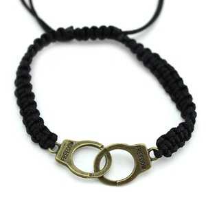 Nouveau mode Femmes Hommes Punk Bracelet Tressé Menottes Bracelet Fine Jewelry cadeau M656 LXH