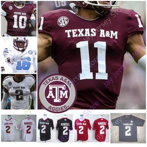 Texas AM Aggie Futbol Jersey NCAA Kolej Murray Mühürler-Jones Johnson Calzada Richardson Wydermyer Matthews Ogbuehi Tannehill Joeckel Tepesi