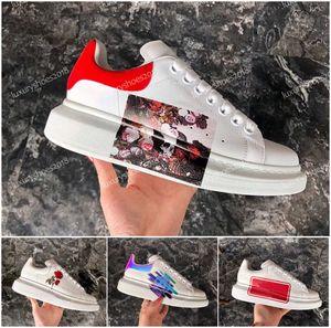 2020 New Mode Femmes de luxe Designer Chaussures en cuir pour homme lacées plateforme Fleur Crâne Chaussures brodé Robe de formation Chaussures de sport