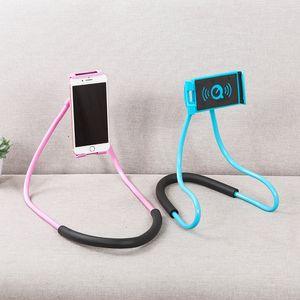 1pcs Lazy cuello collar de soporte para teléfono Celular Soporte de apoyo para Samsung Soporte universal para Android iphoe 360 grados