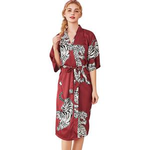 Femmes Simulation Soie Dames Kimono Kimono Pyjamas Lingerie Robe Peignoir Robe De Mariée Robe Peignoir Pour Femmes Robes De Demoiselle D'honneur