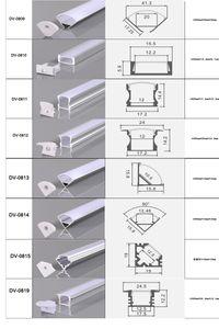 CLAITE 50см U V YW три типа алюминиевого канала Держатель для LED Strip Light Bar Под кабинет лампы кухни 1.8cm Wide