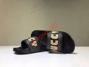 Gucci Luxus Slide Summer Fashion breite flache Slippery mit dicken Sandalen Slipper Männer Frauen Sandalen Designer Schuhe Flip Flops Slipper 36-45 xshfbcl