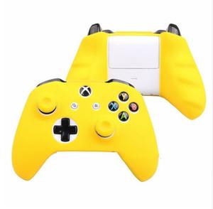 18 cores para xbox one controlador silicone skin case + analógico polegar vara grip cap para xbox one 1 x s joystick dhl