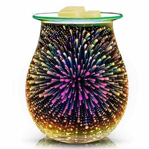 Aroma Elektrische Wachsschmelze Burner 3D-Feuerwerk-Lampe LED-Nachtlicht Wax Warmer Lufterfrischer Office Home-Dekor-Geschenk US UK EU AU Stecker