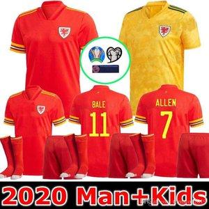 Man + Kids 2020 WALES soccer jersey BALE ALLEN James Ben Davies Wilson camisetas football jerseys top quality camisa de futebol