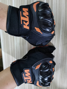 KTM Motorcycle gloves PU Leater moto Cycling OFF-roadvehicle bike gloves hight quality Rider Protector anti - fall gloves 03