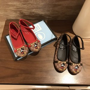 Модельер Девушки плоские туфли Cartoon Baby Дети обувь 2020 Infant Элегантный мягкий сандалии принцессы Низкий каблук Свадебная обувь Размер 26-35 S2