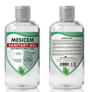 In 240ml Stock Hand Gel Igienizzante Mani ad asciugatura rapida disinfettante Gel monouso lavaggio a mano Sapone Spray portatile disinfettanti GGA3281