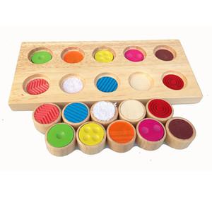 Montessori Oyuncaklar Çocuk Erken Eğitim Öğrenme Ahşap Oyuncak Doku Eşleştirme Silindirleri Kurulu Okul Öncesi Eğitim Hediyeler