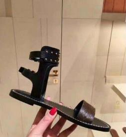Zapatos atractivos de las señoras de las señoras del partido del estilo del gladiador lienzo 2019 Nuevo casual sandalias de verano sandalias planas de lujo