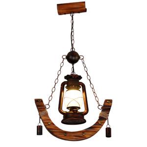 American Country Antique Lampade a sospensione Hanging Luce Sala da pranzo Ristorante Bar Piccolo Penant Luce Corridoio Balcone personalità Sospese