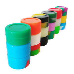 Round Silicone Wax Container Jars Dab Vaporizer Storage Dabber Container Dry Herb Empty Bottle 100 Pcs MOQ Free Shipping