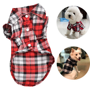 Plaid Hundeshirt Haustier-Hund kleidet weiche Haustiere Hunde Kleidung für Small Medium Hunde-Kostüm Haustier-Welpen-Hemd Westen Chihuahua