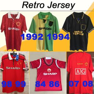 1998 1999 BECKHAM SHERINGHAM OKULLARI Triple Crown Futbol Formaları 92 94 CANTONA Erkek Futbol Gömlekleri 84 86 Retro 2007 2008 RONALDO Üniformaları