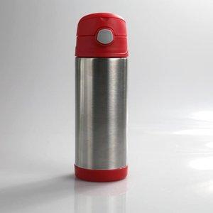 12 onças Bounce Cup Duplas aço inoxidável Vacuum Mugs Double Wall Tumbler Com Bounce Tampa e palhetas com 100pcs CCA12129 transporte marítimo