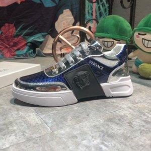 2019 escamas prateadas Scarpe Da Uomo di Design Di Lusso projetar cintas formadores de plataforma Jogger noite Running Shoes