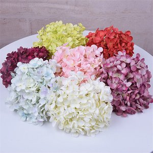 Hydrangea Head Artificial Flower Head Wedding Party Home Decoration DIY Wreath Gift Scrapbook Caft Flower Multi-color