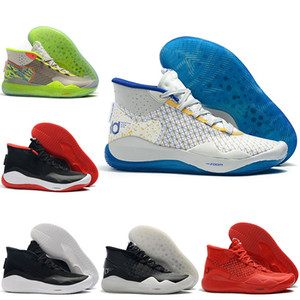 Kd 12 12s XII des années 90 Enfant Université Rouge chaussures de basketball pour hommes KD12 EP Warriors Accueil Hommes formateurs Chaussures de sport US 7-12