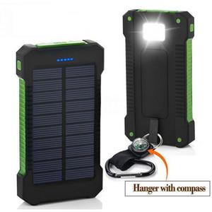 2019 Top Solar Power Bank À Prova D 'Água 30000 mAh para Xiaomi Smartphone com Luz LED Carregador Solar USB Powerbank Portas para Iphone 8 X