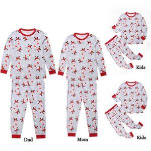 Familie Passende Kleidung Frauen Mom Weihnachtsmann Tops Bluse Hosen Familie Pyjamas Nachtwäsche Christmas Set Family Christmas Pyjamas