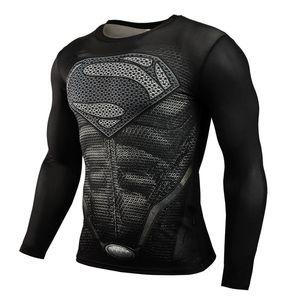 2018 Горячие высокой эластичной облегающие пот влагу и быстросохнущие одежда Мужская спорт и фитнес с длинными рукавами футболки WGTX133