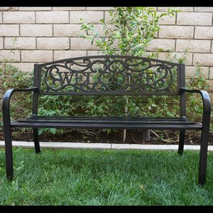 Conception de bienvenue de yard de jardin de plate-forme extérieure de banc de patio de meubles de pouce de pouce de conception de jardin