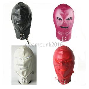 Máscara de Halloween completa # R45 Boca capa headgear Harness Zipper Papel Leather Eye Cjihh