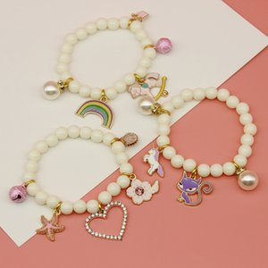 Meninas pulseira crianças agem da ofing papel é provado série mão pai-filho pulseiras cristal de pulseira cartoon linda