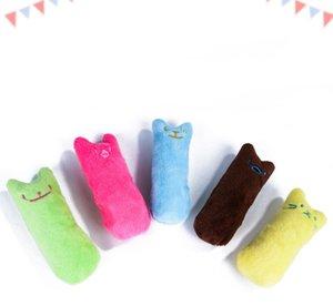 Zähneknirschen Catnip Spielzeug Lustige Interactive Plüsch-Katze-Spielzeug Pet Kitten Chewing Vocal Toy Claws Thumb Biss Cat Minze für Katzen heiß