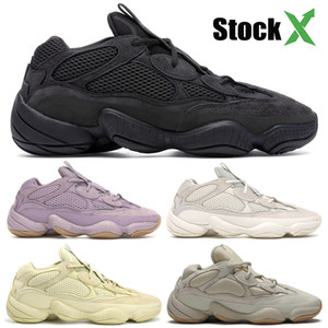 New Salt Kanye West 500 Scarpe da corsa da uomo con scatola 2019 Scarpe da design Super Moon Yellow Blush Desert Rat 500 Sneakers sportive