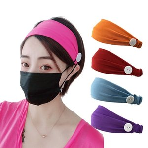 Nouveau style élastique couleur pure Bandeau Masque anti strangulation hairband yoga sport absorber la sueur Bandeau partie petit cadeau T9I00404