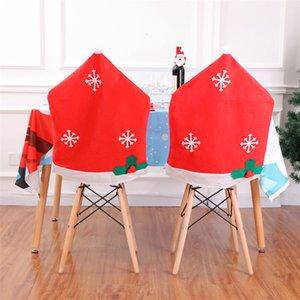 Cap Silla de Navidad Santa Claus sombrero Cubre Sillas de Red Hat Presidente Cena protector de banquetes de vacaciones de Navidad decoración del festival JK1910XB