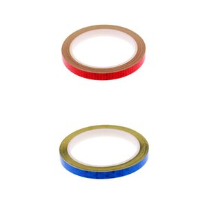 2 Pieces 8 Meters Reflective Bike Wheel Rim Stickers Bicycle Cycling MTB Motorcycle Reflector Tape DIY Decals - 2 Colors