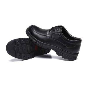 원래 2019 최고 품질의 남성 신발 남성 비즈니스 드레스 가죽 신발 배 검은 겨울 플러스 벨벳 한국어 캐주얼 신발